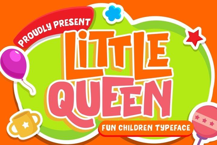 Little Queen Fun Children Typeface