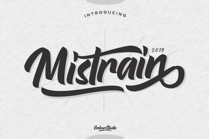 Mistrain Modern Hand Lettering - Free Font Of The Week