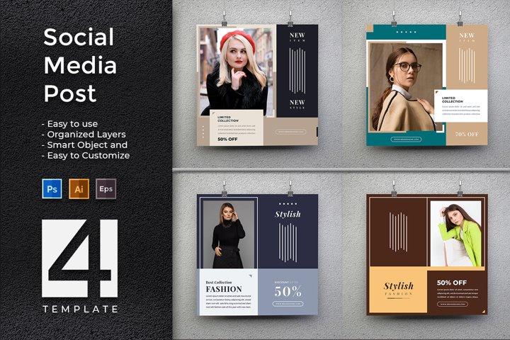 Stylish Fashion - Creative Social Media Post Promotion
