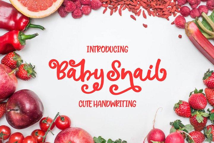 Baby Snail || cute handwriting