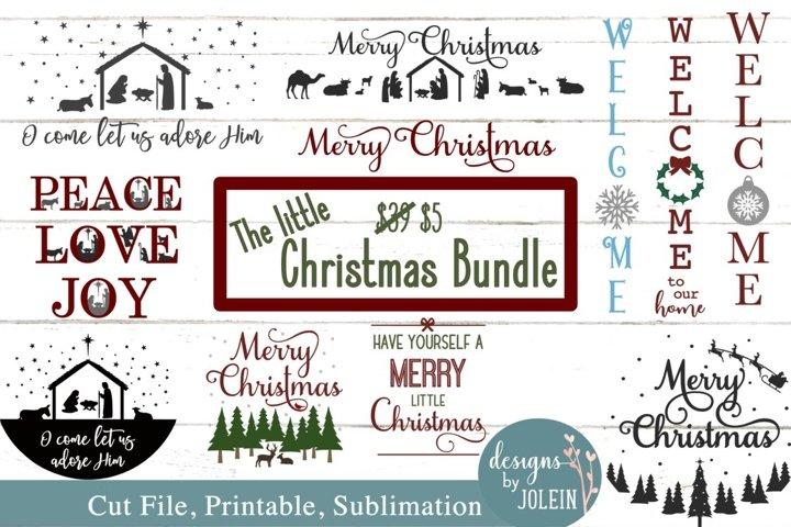 The Little Christmas Bundle SVG, Sublimation, Printable