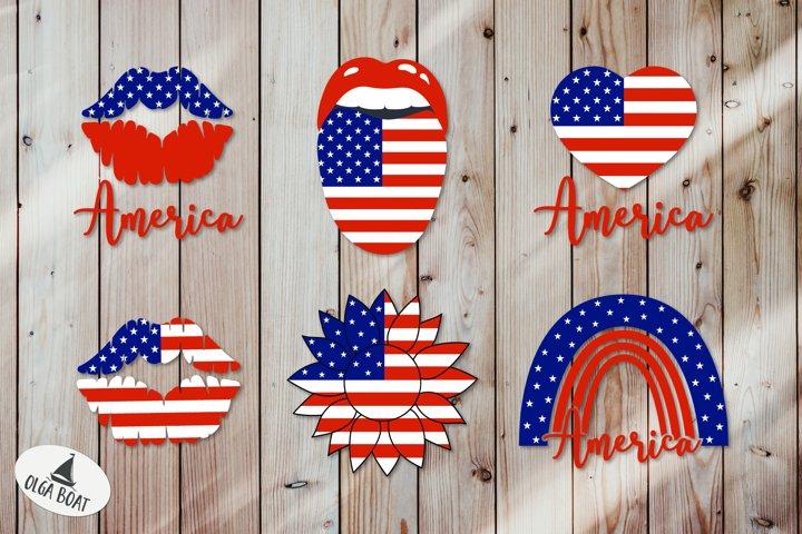 American flag svg America svg sunflower Usa flag svg