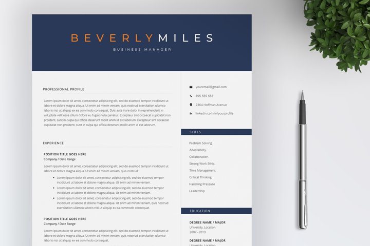 Resume Template and Cover Letter | CV template
