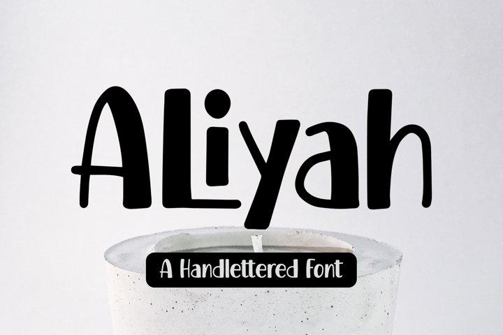 Aliyah - Handlettered Font
