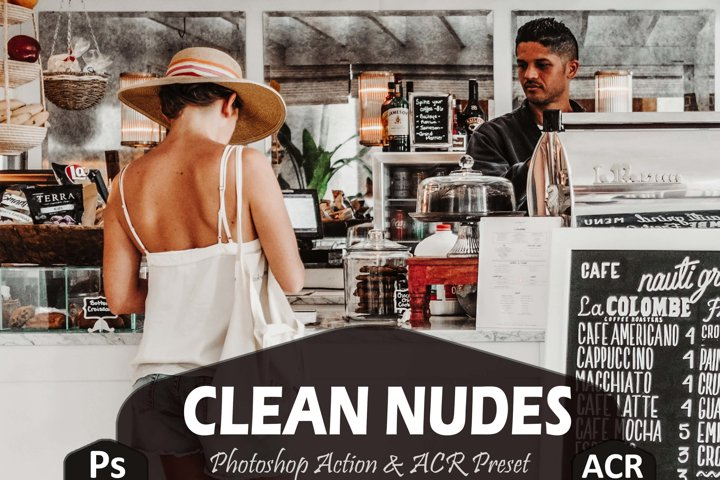 10 Clean Nudes Photoshop Actions And ACR Presets, beige Ps