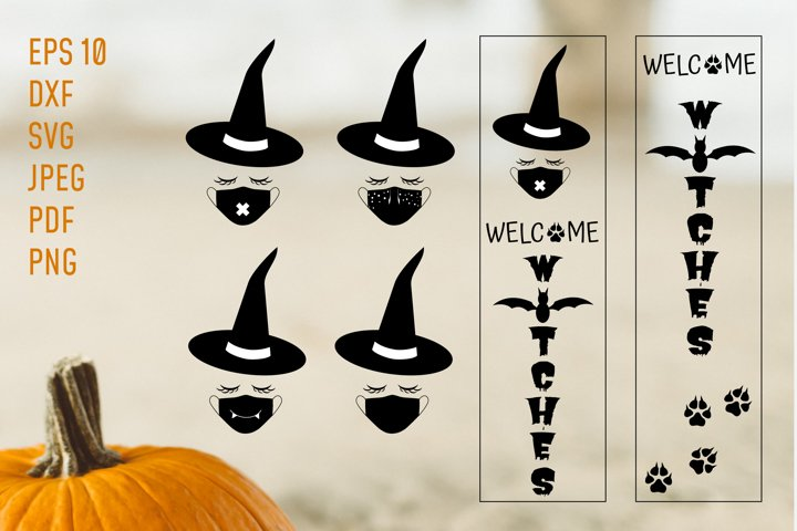 Welcome Witches Porch Sign SVG.