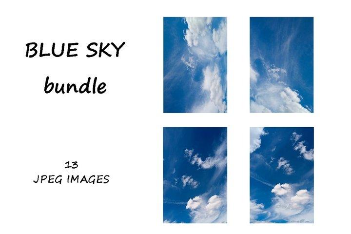 Blue clouds texture BUNDLE|13 images