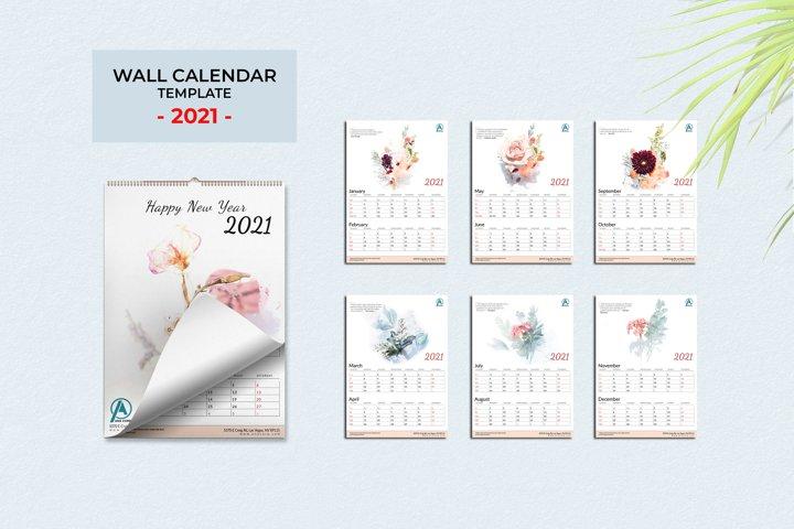 Wall Calendar 2021 - Vol.01