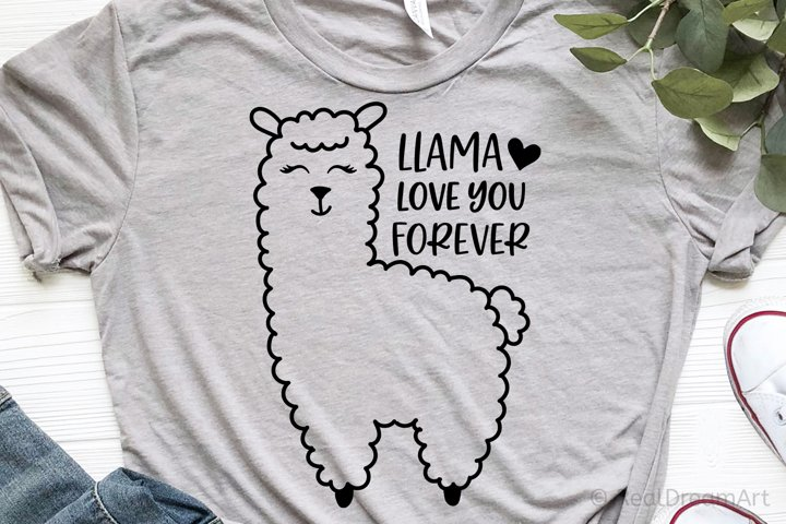 Llama Love You Forever SVG, DXF, PNG, EPS example