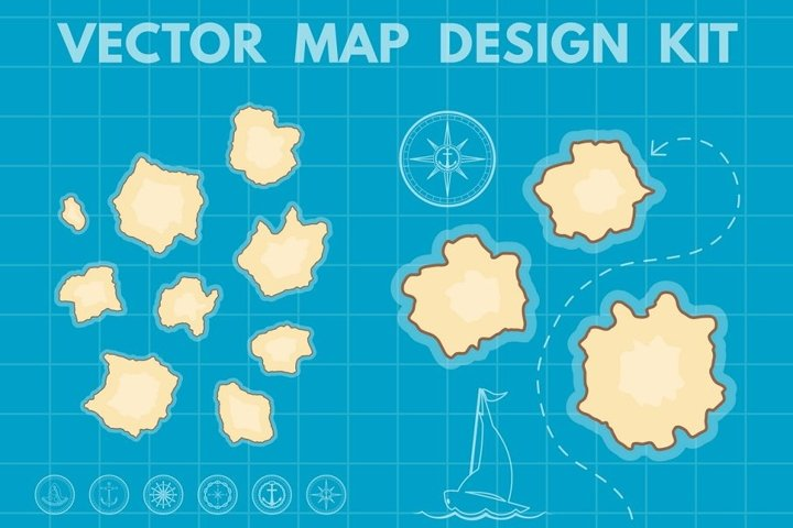 Nautical Map Generator EPS Ai PNG JPG