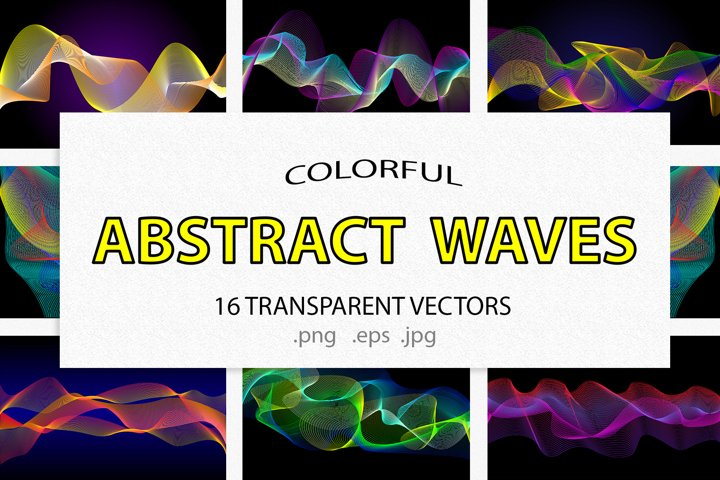 Abstract Colorful polygonal wave bundle