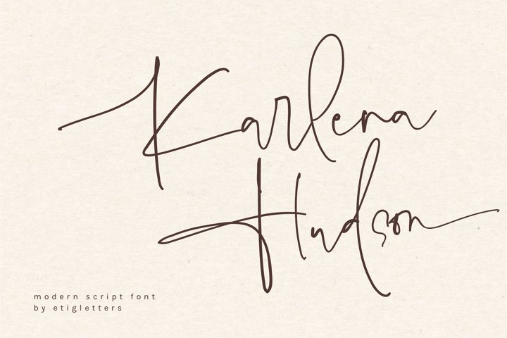 Karlena Hudson - Modern Script