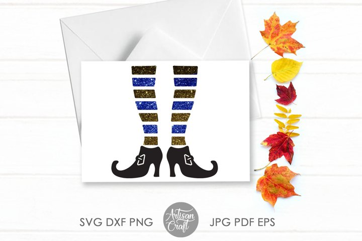 Witch legs SVG ,Halloween SVG, cut file ,witches shoes example 4