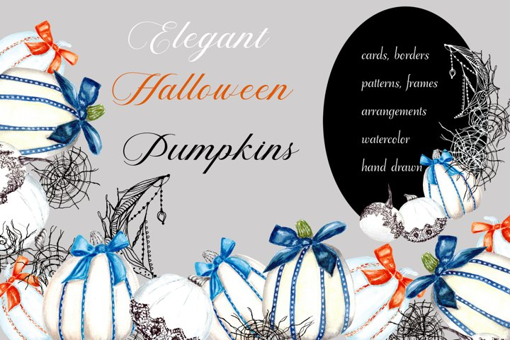 Elegant Halloween Pumpkins Set!. Hello autumn. Witchcrafts
