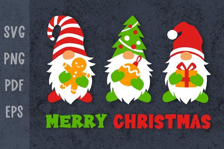 Christmas shirt designs Christmas gnomes svg Xmas svg file