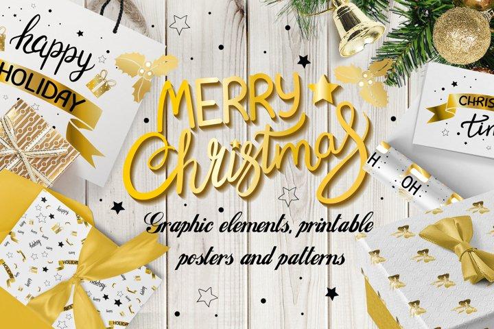 Merry Christmas Graphic Set