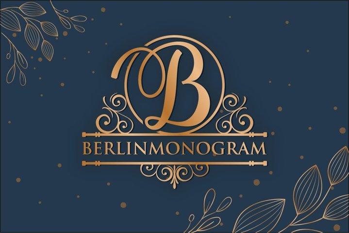 Split Monogram Alphabet Font Hand Lettered Initials 337813 Monogram Font Bundles