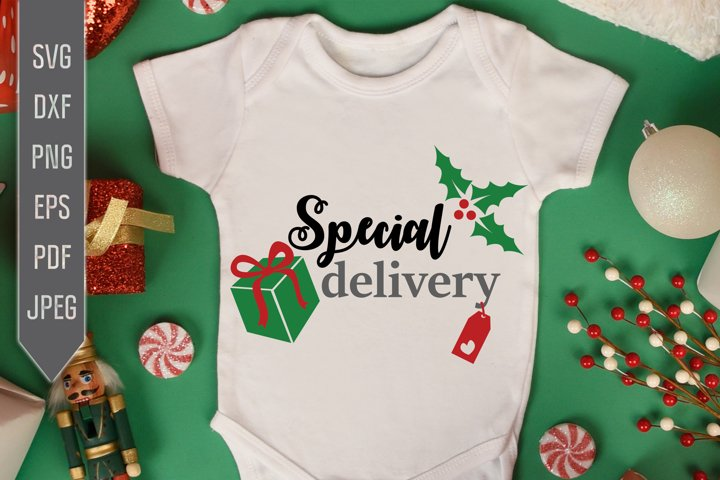 Special Delivery. Christmas Baby Announcement Png
