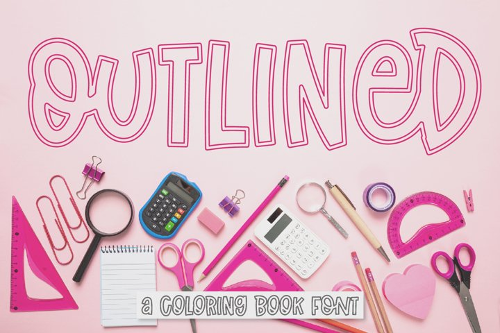 Outlined - A Coloring Book Font