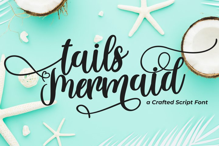 Tails Mermaid - a Crafted Script - Free Font of The Week Font