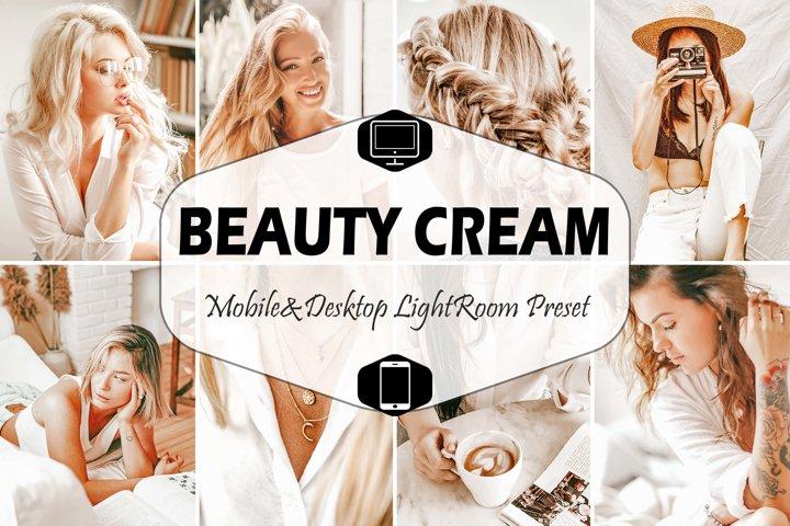 10 Beauty Cream Mobile & Desktop Lightroom Presets