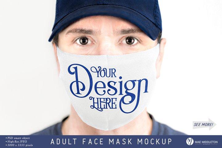Adult Face Mask mockup | psd & jpg