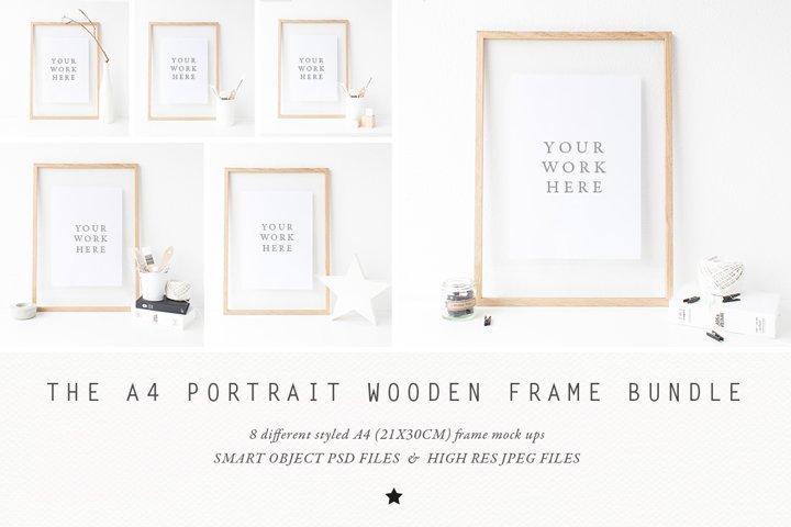 BUNDLE - A4 Wooden Frame mock up