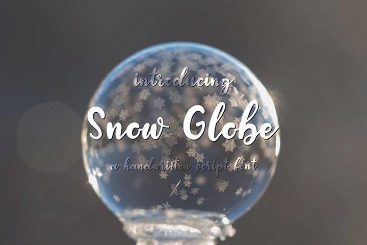 Snow Globe   A Handwritten Script Font
