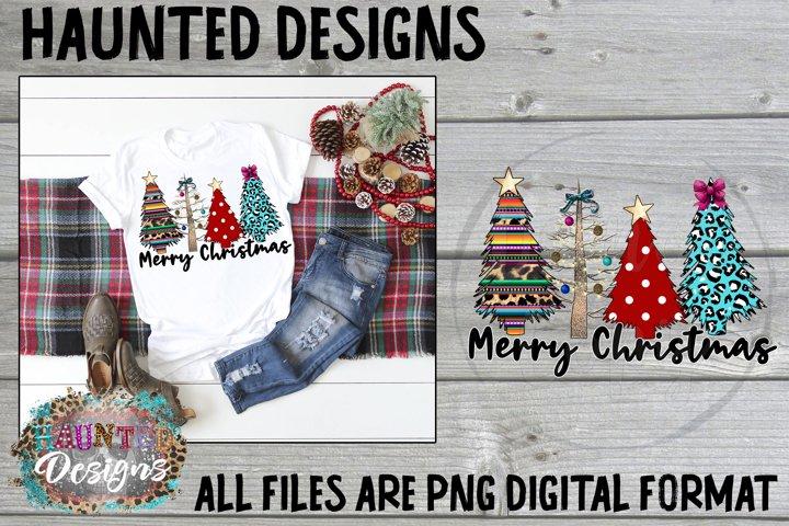 Wild Christmas Serape Tree Clip Art Design