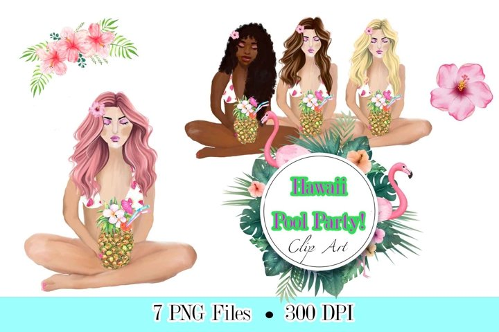 Summer clipart, pool party, beach clipart, Summer Clipart