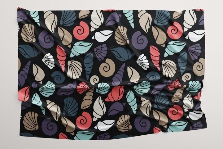 Seamless pattern of shell