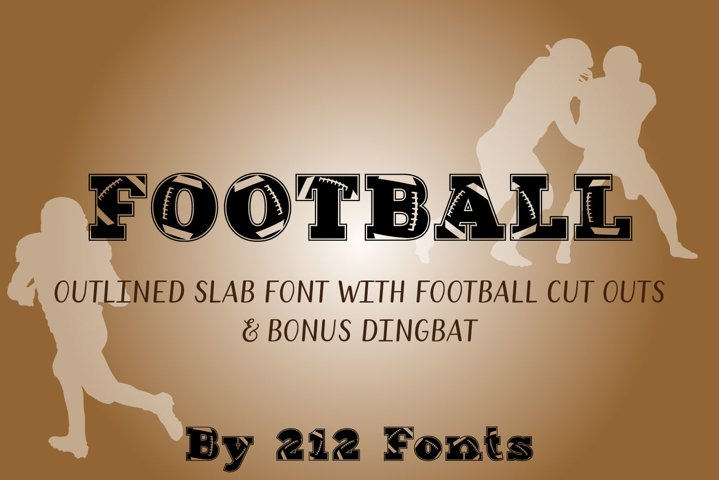 212 Football Display Font American Football and Dingbat OTF