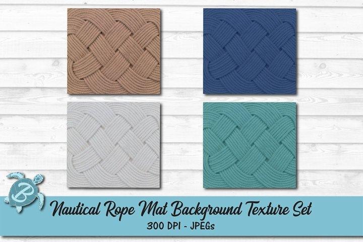 Nautical Rope Mat Background Texture Set