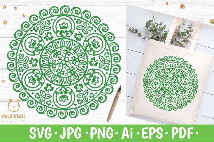 St.Patricks Day Claddagh Mandala SVG, Celtic symbols svg