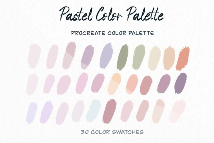 Pastel Color Palettes,Candy Color,iPad Procreate Palettes
