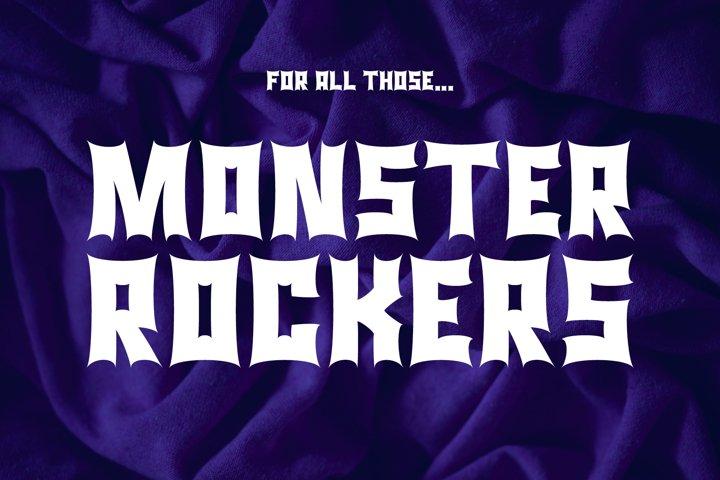 Monster Rock font - Monsta Rocka