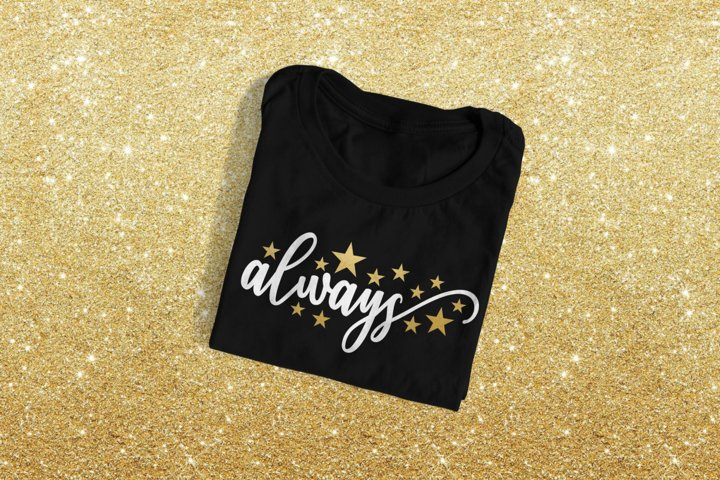 Always with Stars SVG Design