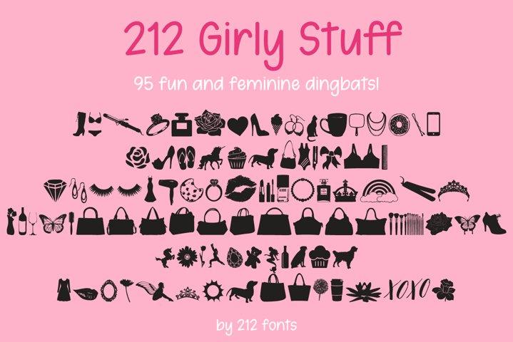 212 Girly Stuff Dingbat Font