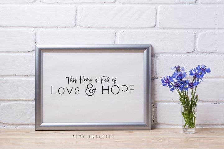 This Home is Full of Love and Hope in SVG EPS PNG