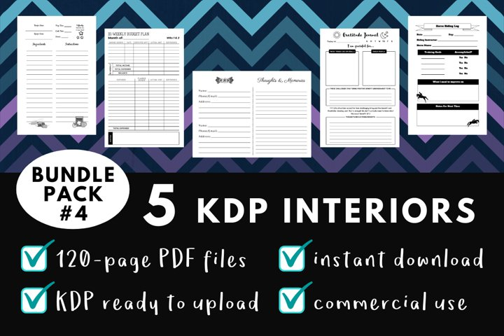 KDP Interior Pack #4 - 5 Templates!