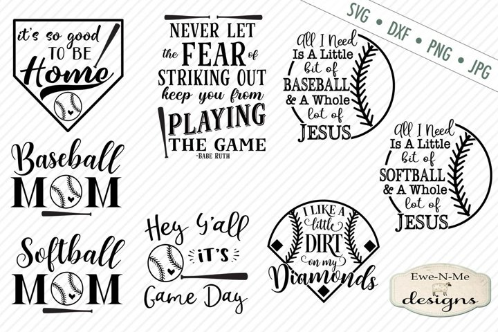 Baseball Softball Bundle Baseball SVG DXF Files