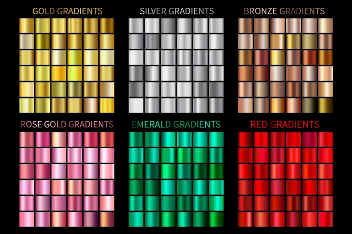 Set of Colorful Gradients .AI .GRD Vector