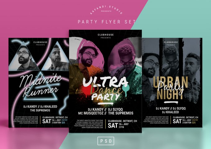Party Flyer Set