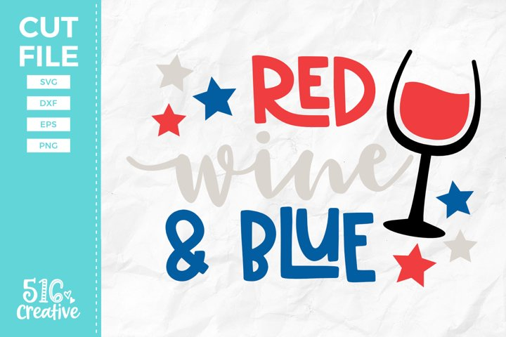 Red, Wine & Blue SVG DXF EPS PNG