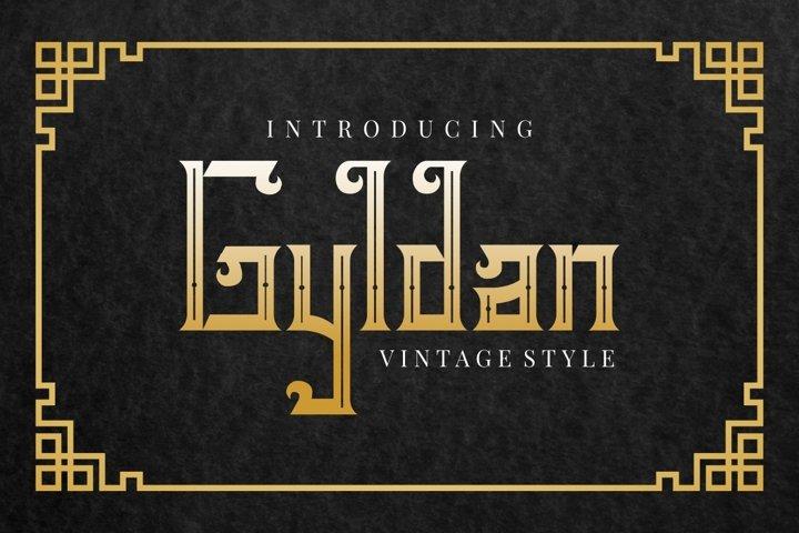 Gyldan - Black Letter Font