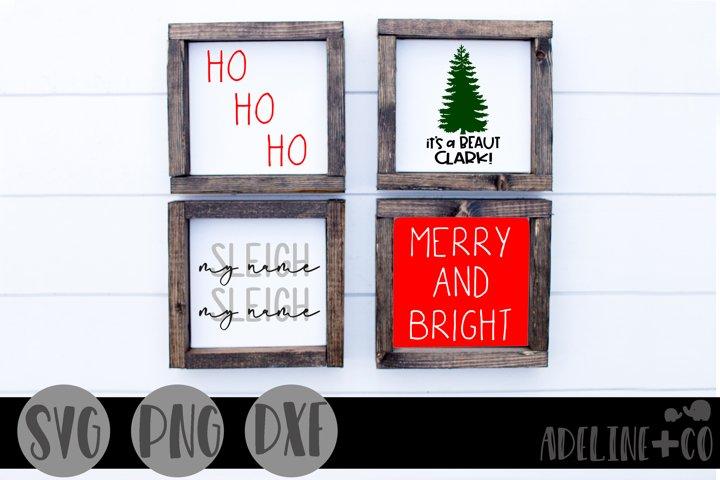Christmas mini sign bundle, SVG, PNG, DXF