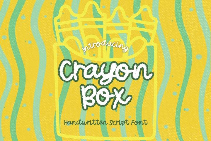 Crayon Box - A Kid Handwritten Script Font