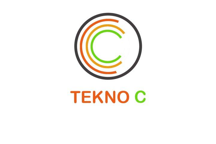 C Letter / Letter C / Logo Template TEKNO