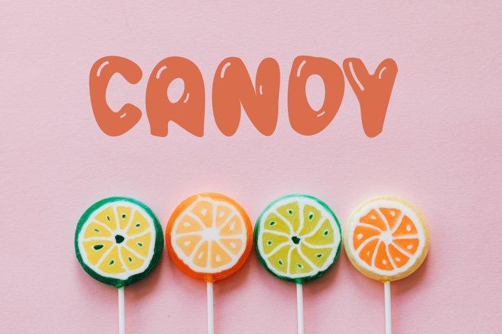 Bubble Letter Candy Font