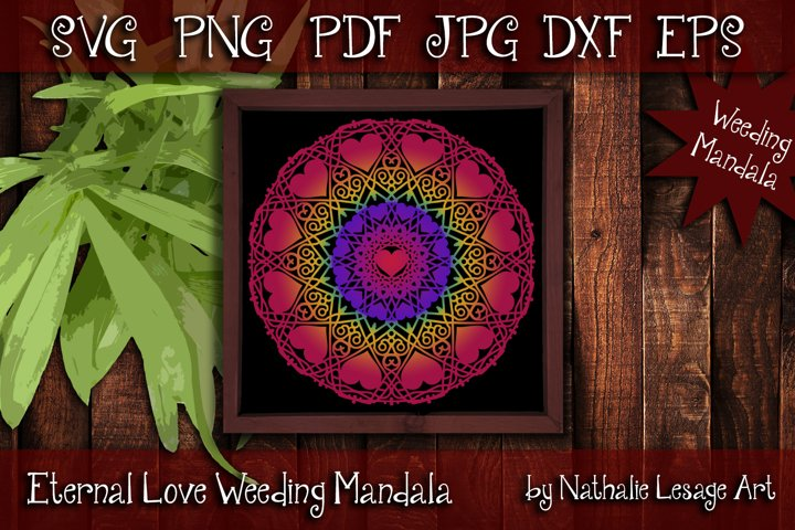 Eternal Love Mandala SVG Zetangle Style Weeding Sublimation